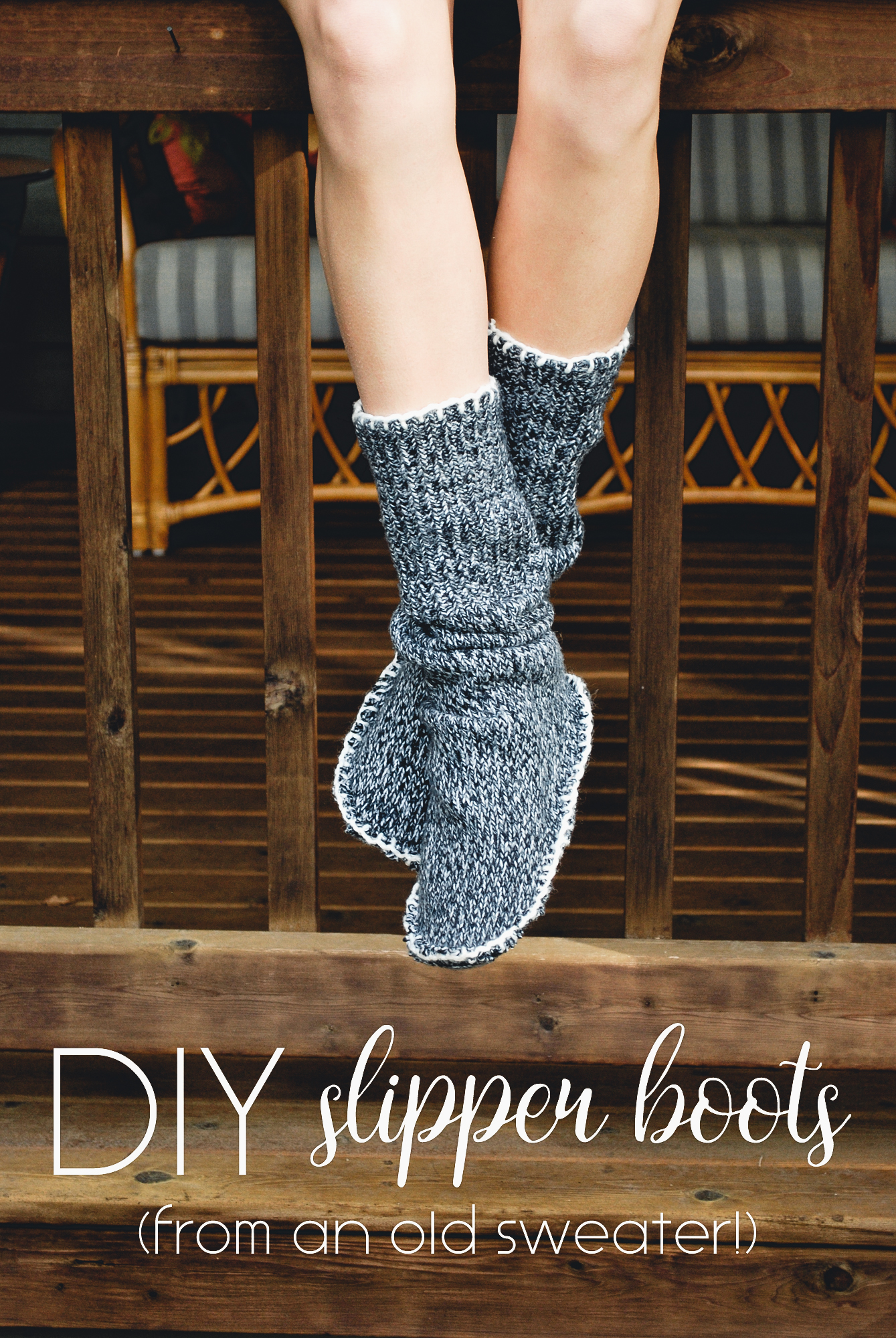 Make Sweater Socks Out Of Old Thick Sweater | Cold Weather Hacks to Keep You Cozy This Winter