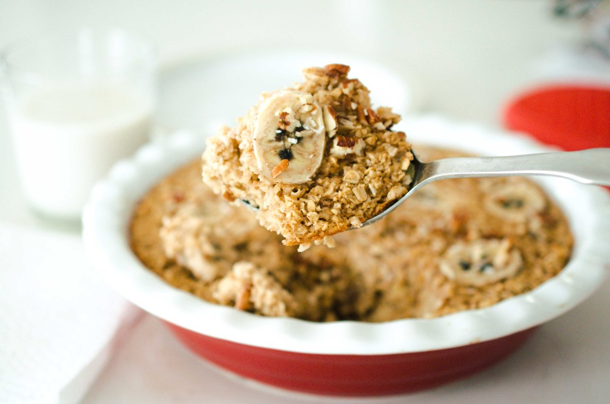 Maple Banana Baked Oatmeal